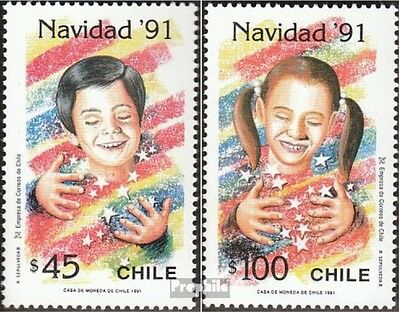 Chile 1474-1475 mint never hinged mnh 1991 christmas