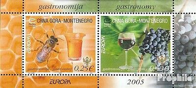 Montenegro block1 mint never hinged mnh 2005 Europe: gastronomy