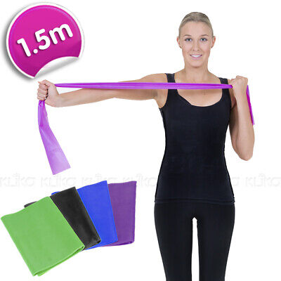 1.5m RESISTANCE BAND STRAPS BELT YOGA PILATES HOME GYM FITNESS EXERCISE STRETCH