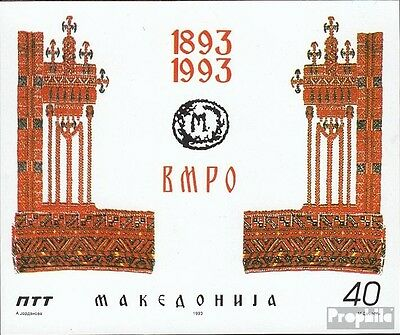 Macedonia block2 mint never hinged mnh 1993 IMRO