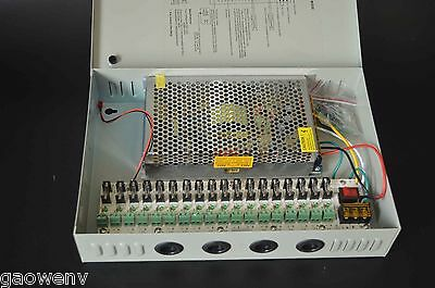 Great 18CH DC 12V 20A Distribution Box Power Supply for CCTV Security Camera
