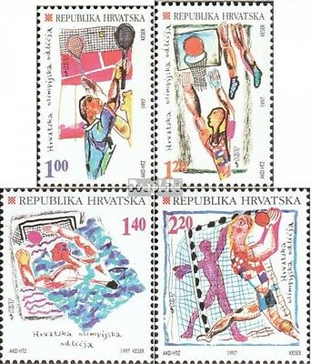 Croatia 424-427 fine used / cancelled 1997 Medaillenerfolge olympic. Games