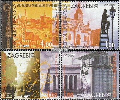 Croatia 299-302 fine used / cancelled 1994 Diocese Zagreb