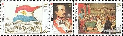 Croatia 450-452 triple strip mint never hinged mnh 1998 Historical Events