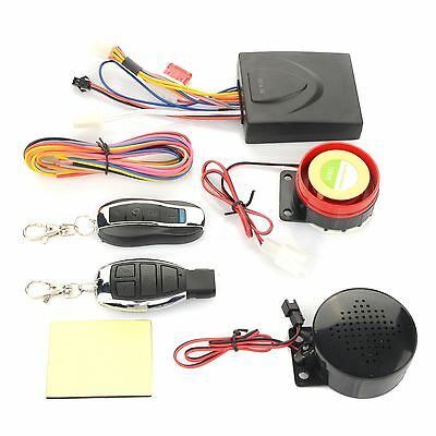 Voice Alarm System Remote Control Motorcycle Motorbike Antitheft Security System