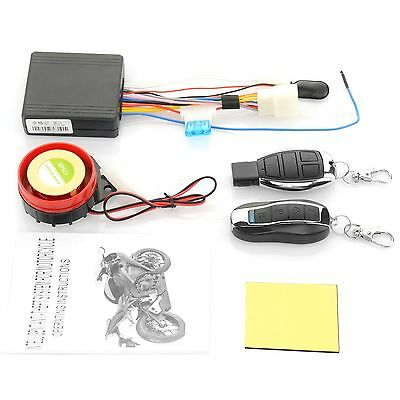 Motorcycle Bike Anti-theft Alarm Remote Control Engine Start 12V Security System
