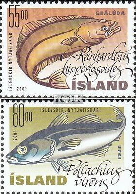 Iceland 971-972 mint never hinged mnh 2001 Nutzfische