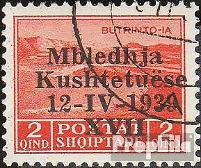 Albania 285 fine used / cancelled 1939 Verfassungsgebende Assembly