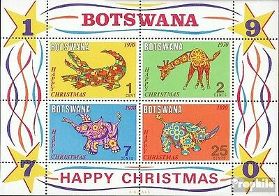 Botswana block4 mint never hinged mnh 1970 christmas