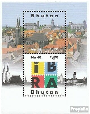 bhutan Block383 mint never hinged mnh 1999 Stamp Exhibition