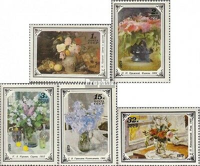 Soviet-Union 4866-4870 fine used / cancelled 1979 Flower Paintings