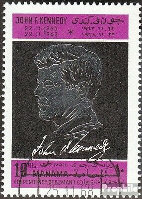 Manama 113A fine used / cancelled 1968 John F. Kennedy