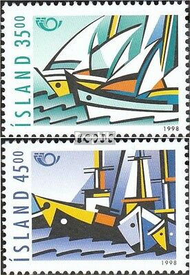 Iceland 884-885 mint never hinged mnh 1998 NORTH: Maritime