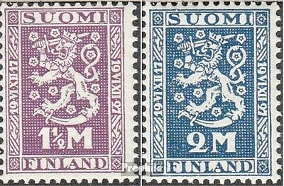 Finland 126W-127W mint never hinged mnh 1927 national foundation