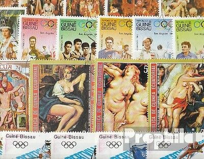 Africa 150 different special stamps  Guinea, -Equatorial and -Bissau