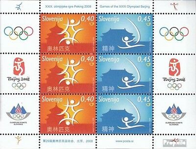 slovenia 679-680 Sheetlet mint never hinged mnh 2008 Olympics Summer