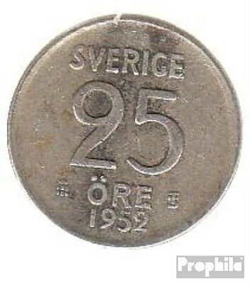 Sweden km-number. : 824 1961 extremely fine Silver extremely fine 1961 25 Öre Cr