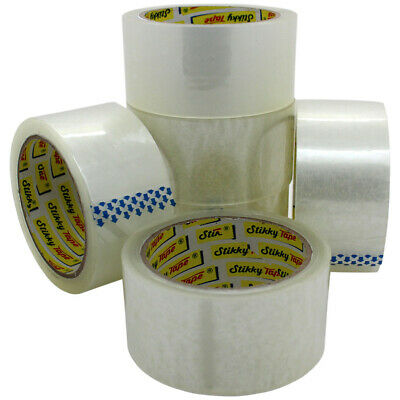 72 HUGE Rolls Of CLEAR STRONG Parcel Tape Packing sellotape Packaging 48mm x 66m