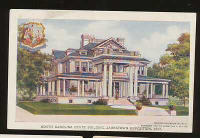 1907 Jamestown Exposition, unmailed, #134, North Carolina State Building