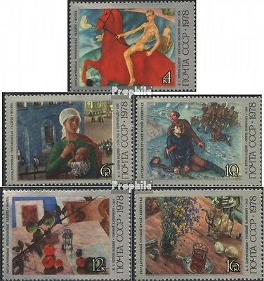 Soviet-Union 4757-4761 fine used / cancelled 1978 100. Birthday Petrov-Vodkin