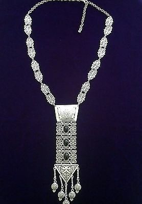 Turkish Made Silver Plated Necklace S1277