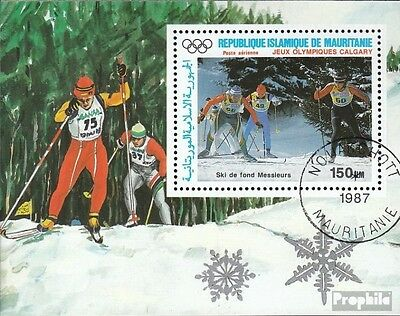 Mauritania block69 fine used / cancelled 1988 Olympics Winter Games ´88
