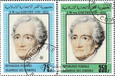 Comoros 657-658 fine used / cancelled 1982 Johann Wolfgang of Goethe