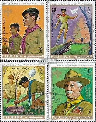 Fujeira 513A-516A fine used / cancelled 1970 Scouts