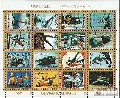 Ajman 2733-2748 Sheetlet fine used / cancelled 1973 Olympics Games