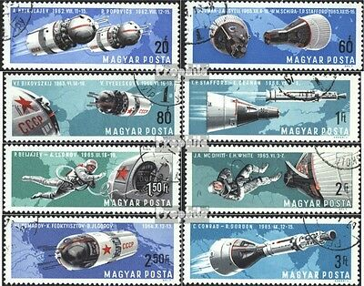 Hungary 2299A-2306A fine used / cancelled 1966 Manned World Space