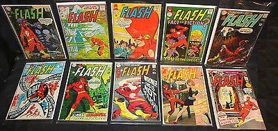 Flash LOT of 10 Issues - Silver & Bronze Age - 1967 - 1971 (Grades 1.5 - 5.5) WH