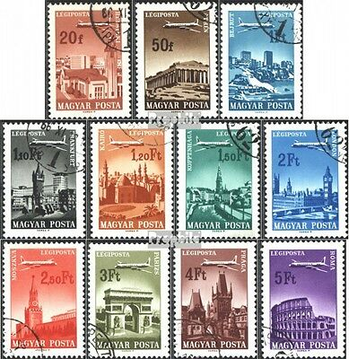 Hungary 2280A-2290A fine used / cancelled 1966 Cities and aircraft