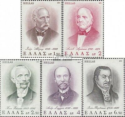 Greece 1159-1163 (complete issue) unmounted mint / never hinged 1973 Benefactors