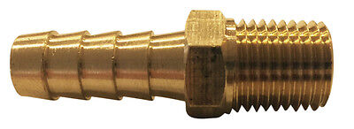 1/4 Hose Barb x 1/8 Male Pipe Thread (NPT) Brass Hose Barb, 6 Pack, # MPT-4-2