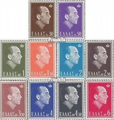 Greece 835-844 (complete issue) unmounted mint / never hinged 1964 King Paul I.