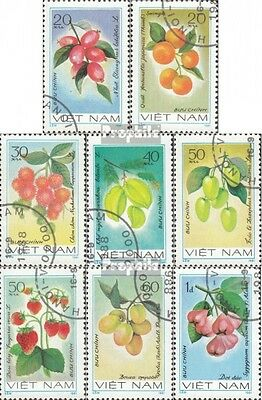 Vietnam 1179-1186 (complete issue) used 1981 Fruits