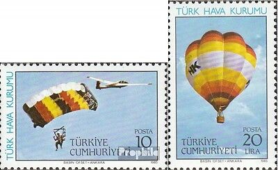 Turkey 2703-2704 (complete issue) unmounted mint / never hinged 1985 aviation as