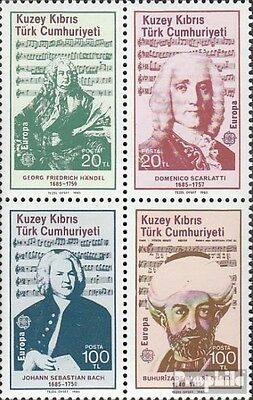 Turkish-Cyprus 166-169 block of four (complete issue) used 1985