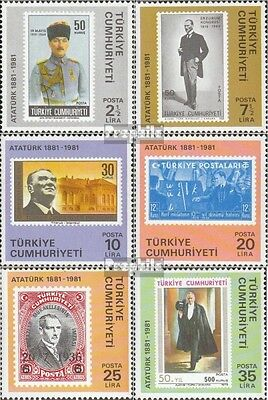 Turkey 2551-2556 (complete issue) unmounted mint / never hinged 1981 Birthday of