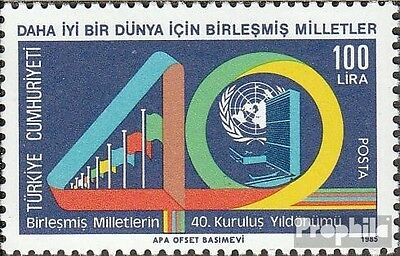 Turkey 2728 (complete issue) used 1985 UN