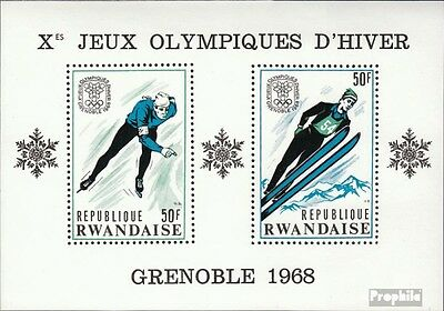 Rwanda block12a (complete issue) unmounted mint / never hinged 1968 olympic. Win