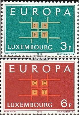 Luxembourg 680-681 (complete issue) unmounted mint / never hinged 1963 Europe