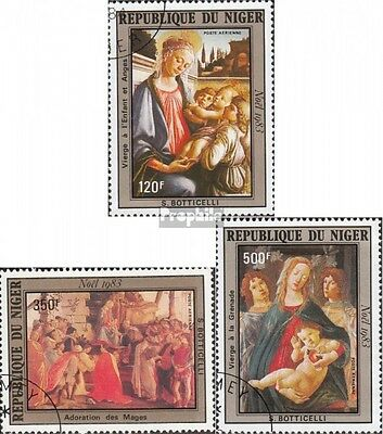Niger 872-874 (complete issue) used 1983 christmas