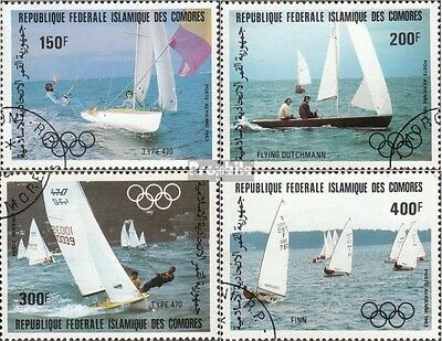 Comoros 686-689 (complete issue) used 1983 Olympics Summer 1984