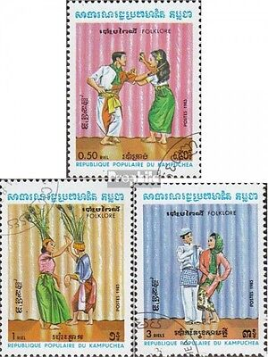 Cambodia 476-478 (complete issue) used 1983 Folklore