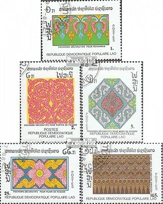 Laos 1105-1109 (complete issue) used 1988 Decorative Pattern