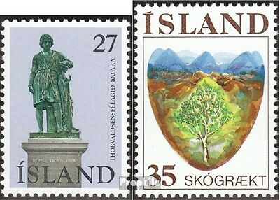 Iceland 511,512 (complete issue) unmounted mint / never hinged 1975 Thorvaldsen