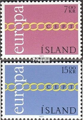 Iceland 451-452 (complete issue) unmounted mint / never hinged 1971 Europe