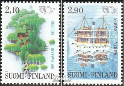 Finland 1142-1143 (complete issue) used 1991 Tourism