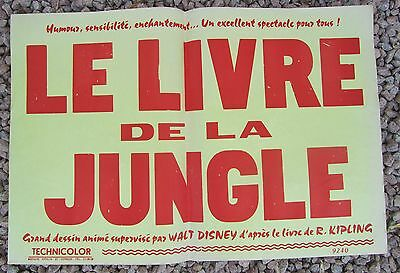 Ancienne Affiche Cinema Le Livre De La Jungle Walt Disney